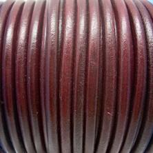CC45 / Cordón cuero 4.5mm. BURDEOS. 1m.