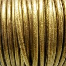 CC45 / Cordón cuero 4.5mm. ORO VIEJO. 1m.