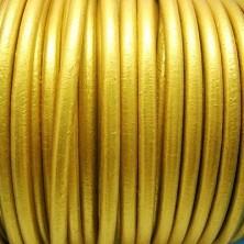 CC45 / Cordón cuero 4.5mm. DORADO. 1m.