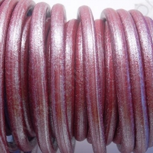 CC45 / Cordón cuero 4.5mm. ROJO NACARADO. 1m.