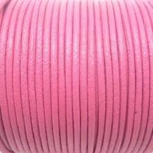 CCR2 / Cordón cuero redondo 2mm. ROSA. 1 Metro.