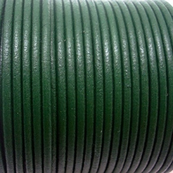 CCR25 / Green leather cord 2,5mm. 1 m.