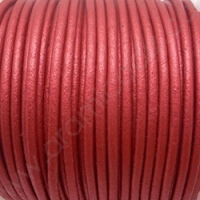 CCR25 / Cordón cuero redondo 2.5mm. COBRE metalizado. 1 Metro.