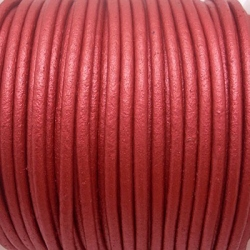 CCR25 / Copper leather cord 2,5mm. 1 m.