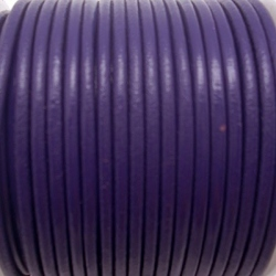 CCR25 / Purple leather cord 2,5mm. 1 m.