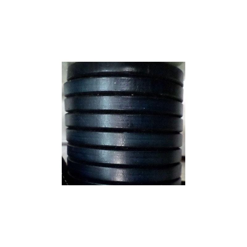 22710 / Cuero regaliz azul. 20 cm.