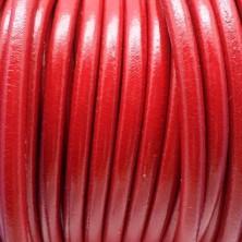 CC45 / Cordón cuero 4.5mm. ROJO. 1m.