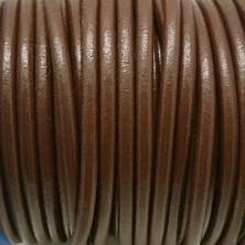 CC45 / Cordón cuero 4.5mm. MARRÓN CHOCOLATE. 1m.
