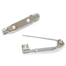 E021Y / Imperdible para broche plano 3cm. 25 Unid.
