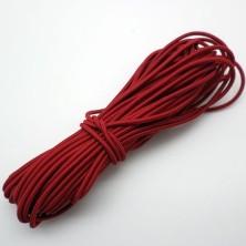 Cordón Elástico Rojo 2,5mm. 1metro