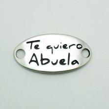 ZM77423-40 / Plaquita: TE QUIERO ABUELA.