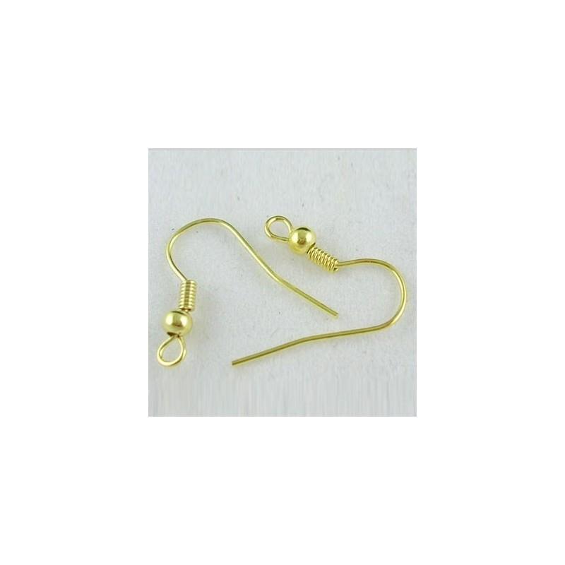 Gancho para Pendiente dorado 1,8 cm - 50 Unid.