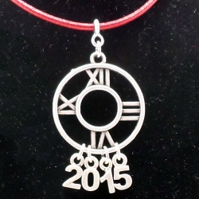 Colgante reloj año nuevo.