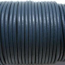 CCR3 / Cordón cuero 3mm. Azul. 1 Metro.