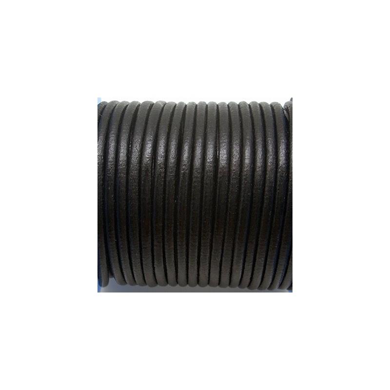 CCR3 / Cordón cuero 3mm. Negro.