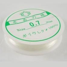 Elástico de silicona transparente 0.7 mm