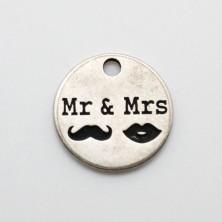 ZM77587-11 / COLGANTE ZAMAK Mr & Mrs.
