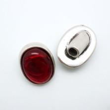 ZM77811-05 / Cierre botón piedra turquesa. 2Unid.