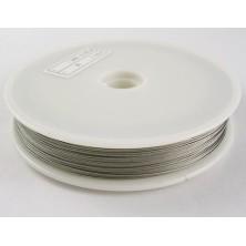 L0.45mm01 / Cable de Acero Nylon GRIS PLATA 0.45mm.
