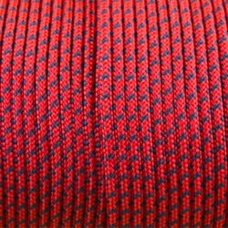 CORDÓN PARACORD 3MM. ROJO. 1M.
