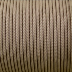 CORDÓN PARACORD 3MM. BEIGE. 1M.