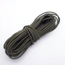Cordón Elástico verde oliva2,5mm. 1m.