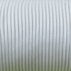 CORDÓN PARACORD 3MM. BLANCO. 1M.