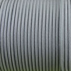 CORDÓN PARACORD 3MM. PLATA. 1M.