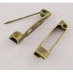 E035Y-AB / IMPERDIBLE BROCHE 20MM. BRONCE.
