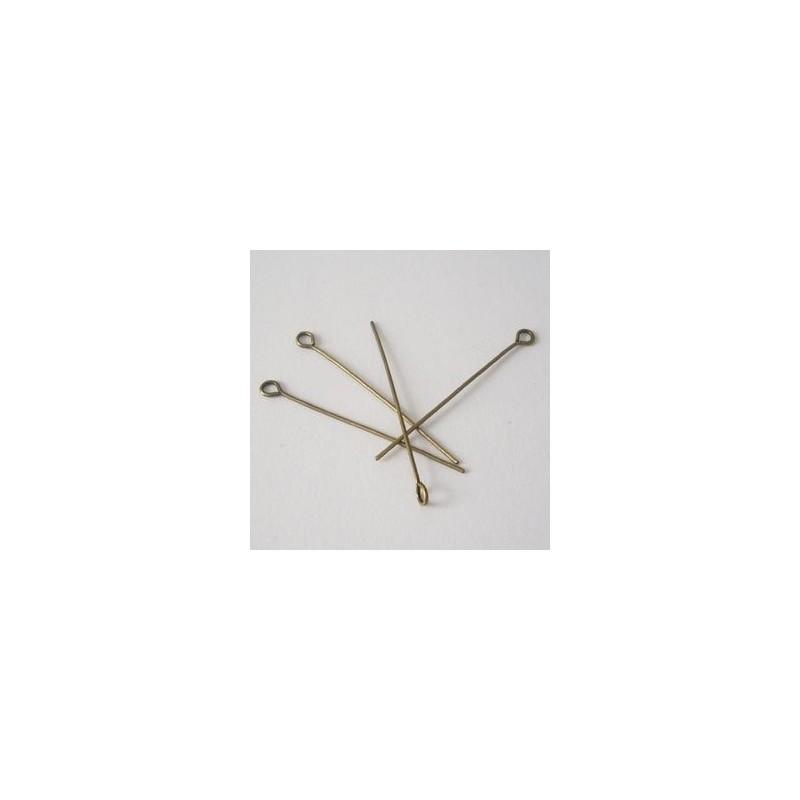 EPAB5cm / Alfiler c/ argolla bronce antiguo 5 cm. 50 Unid.