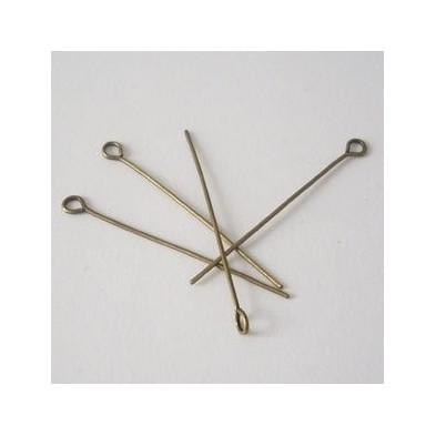 EPAB4cm / Alfiler c/ argolla bronce antiguo 4 cm. 50 Unid.