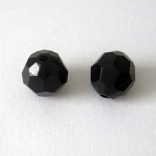PAB16mm01 / Facetada sintética negra. 10 unid.