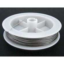 Cable de Acero Nylon GRIS PLATA 0,8MM.