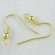 Gancho para Pendiente dorado 1,8 cm - 100 Unid.