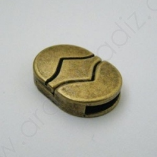 OV75896 / Cierre Zamak magnético oval 13mm OV. 3Unid.