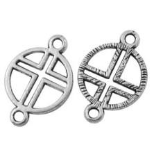 LF10640 / Colgante cruz 2 anillas. 25 Unid.